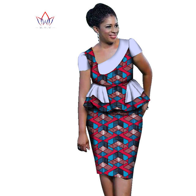 baf8097179f ... African ankara Sets For Women Skirt Set Plus Size African Clothing Top  With Skirt ...