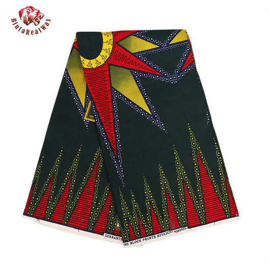 6 Yards High Quality  Ankara African Wax Prints Fabric,Super Hollandais print Wax African Fabric for Party Dress