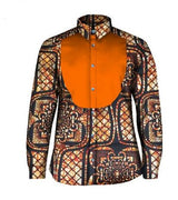 African Clothing Traditional Long sleeve for men, Dashiki African Men's Shirt Men Clothing