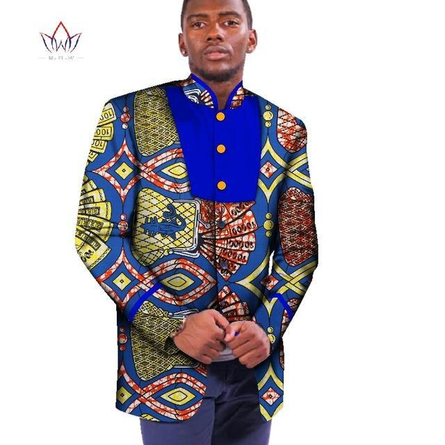 2017 African Jacket For Men African Long Sleeve Mens Top African Clothing Dashiki African Print Blazer Men Outfits BRW WYN345