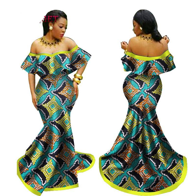 dc0e2f97f5c1 African Print wedding dress, Ankara prom dress,African clothing, Ankara  mermaid dress,. Hover to zoom