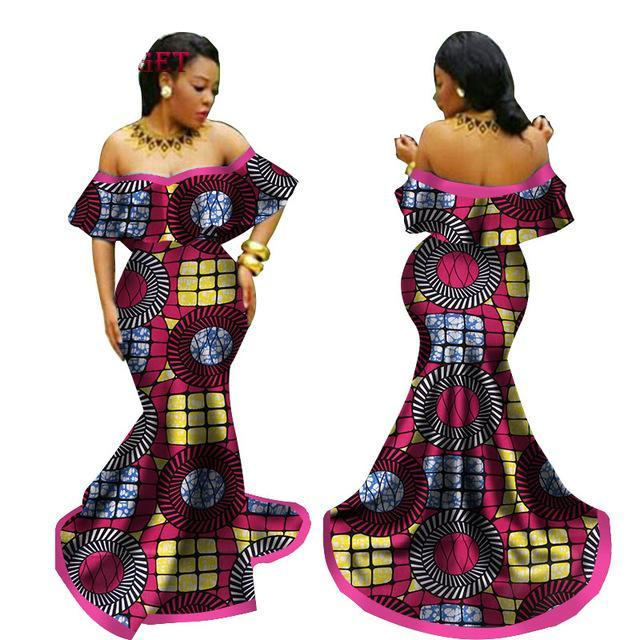 African wedding dress, Ankara prom dress,African clothing, Ankara ...