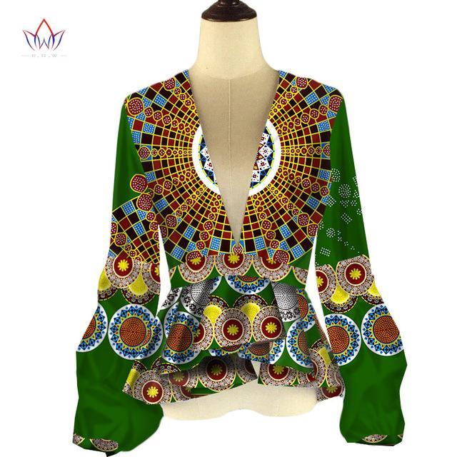 0eae4bc8533 2017 BRW African Style Women Modern Fashions Women s Tops Dashiki African  Print Tops Shirt Plus Size ...