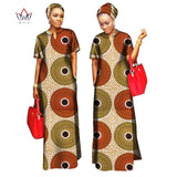 Beautifully Made Dashiki African Ankara Long Dress with Free Head Scarf  Lady Long Dress