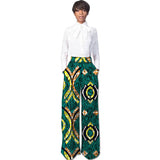 African Fashion Women Pants Loose Design, African Clothes Wide Leg Pants Ladies Dashiki Print Trousers#OWAME11