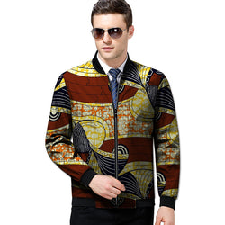 African print jacket handsome mens fashion stand collar outwear dashiki clothes male coats of africa clothing