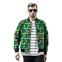 African festival handsome men baseball jacket africa print stand collar dashiki coat african clothes customized