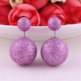 13 Colors Classic Cheapest Double Sides Gold Powder Series Bling-Bling Earrings Big Pearl Earrings Cute Bead Ball Earrings-D1141