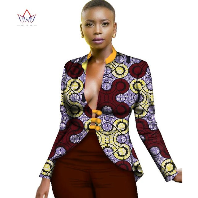 5dd9f50c45bd8 Hover to zoom · African Clothing for Women Dashiki Print Trench Coat  Overcoat Women Basic ...
