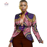 African Clothing for Women Dashiki Print Trench Coat Overcoat Women Basic Coats Ankara Fashions Long Sleeve Slim Trench WY2547