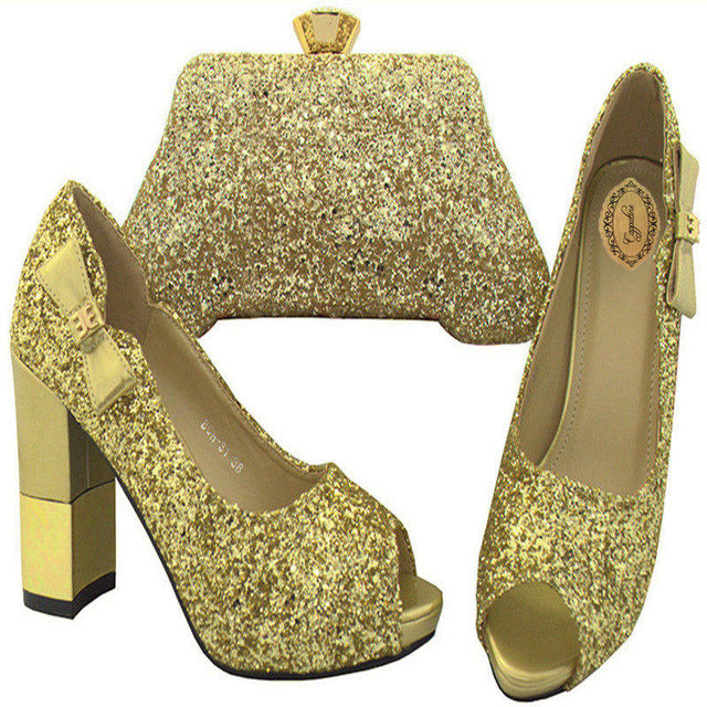 2cc8d2d21 ... Capputine Latest African Woman Shoes And Bag Set Fashion Italian  Rhinestone High Heels Shoes And Bag ...