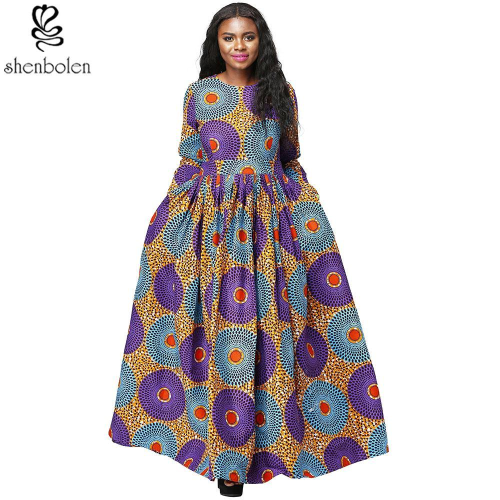 2017 African Print dresses for women Dashiki Dress Robe Casual African Print Ladies Indian Dresses Women Clothing