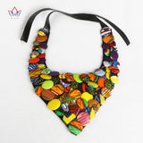 Colourful African Button Necklace African Accessories for Women Bohemia Style Women Button Necklace WYA160