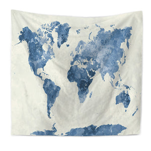 Bourina world map printed tapestry wall hanging modern home bourina world map printed tapestry wall hanging modern home decoration yoga mat table cloth tapisserie tapiz gumiabroncs Choice Image