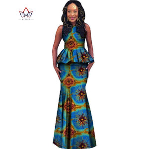 d78da1217e182 Africa Style Women 2 Piece Skirt Set New 2018 Spring Dashiki Plus Size  African Clothing Crop ...