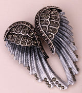 YACQ Angel Wings Brooch Pin Pendant Women Biker Jewelry Gifts for Mom Her Wife Girlfriend W Crystal Wholesale Dropshipping BD03