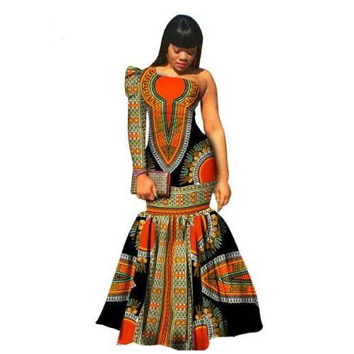 2017 Special Offer Rushed Cotton Women African Print Dresses, New, African, Women, Clothing