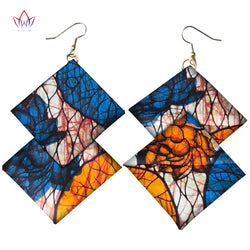 Ankara Ethnic Earrings African Print Fabric Morning Glory Earrings Jewelry Earring for Women-0WM1805