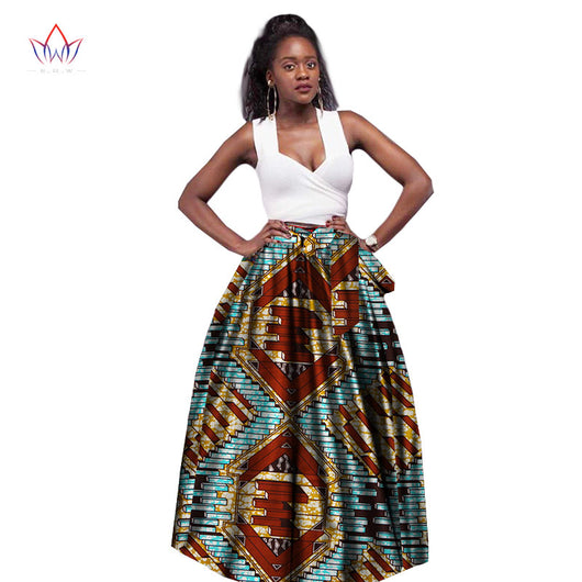 African women clothing Dashiki Plus Size work straight women's long skirt