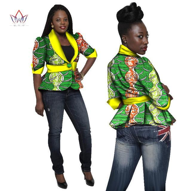 2017 Traditional African Clothing Women Blazers and Jackets Women Dashiki Tops Plus Size Blazers For Women Slim Jacket WY1269