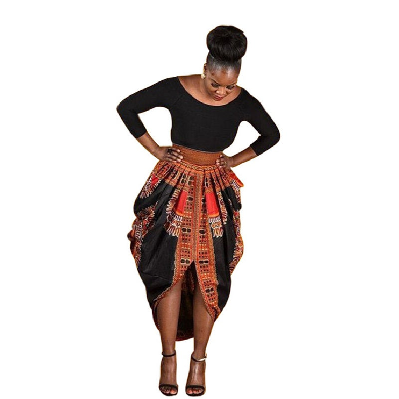 Fashion three quarter sleeve dashiki dress slim fit black and wax sex  patchwork African print nightclub ...