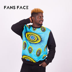 FANS FACE Mens African clothing Traditional Pattern hoodies sweatshirt tops pullovers blouse 2018 Fashion Design