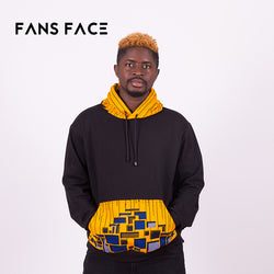 FANS FACE 2018 New Fashion Long-sleeved Pullovers Hoodies Sweatshirt Men Traditional African Print clothing For Men