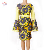 BRW 2017 Summer African Dresses For Women Vintage African Clothing For Lady Speaker sleeves Only One Size Africa dress WY1217
