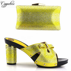 Capputine High Quality Rhinestone Ladies Shoes And Purse Set African High  Heels Shoes And Bag Set ... 1c962d3bfc91
