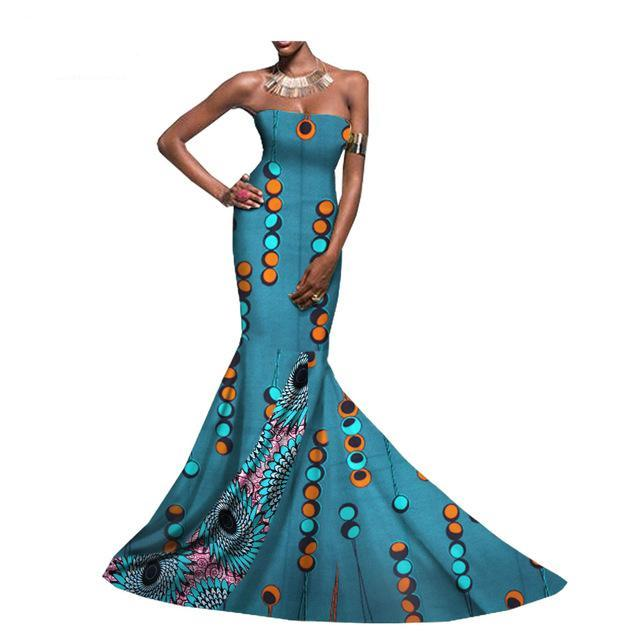 African print occasion dress, African prom dress,African wedding ...
