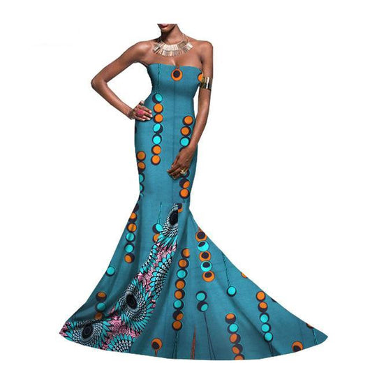 African print occasion dress, African prom dress,African wedding dress,Ankara prom dress,African clothing,Ankara mermaid strapless floor length elegant trumpet women patchwork dress Plus Size XXS-6XL