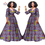 Elegant African three-quarter sleeve dresses for women plus size 5xl-0wame12