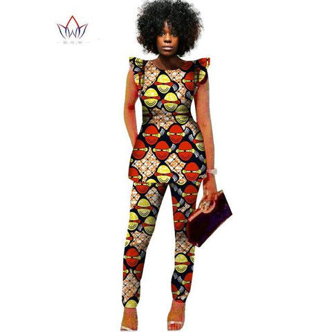 2 Piece Women African Print Dashiki Top and Pants Sets Plus Size M,L,XL,XXL,XXXL,4XL,5XL