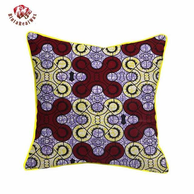 2017 African Wax Cotton Fabric Handmade Decorative Pillow Case Covers African Printed Cushion Case Cojines Home Arts WYS10