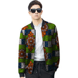 African men festival colour baseball jacket africa print stand collar dashiki fashion coat patchwork african clothes