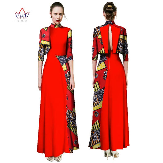 Chrismas Dress 2017 Fashion African Dresses for Women Traditional Plus Size African Clothes Dashiki Elegant Dress BRW WY2472