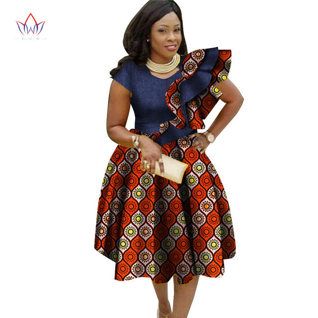 buy online great discount structural disablities Big Size Traditional Dresses for Women Dashiki Elegant Bohemian Beach Dress  Vestido Sexy African Clothes WY2756