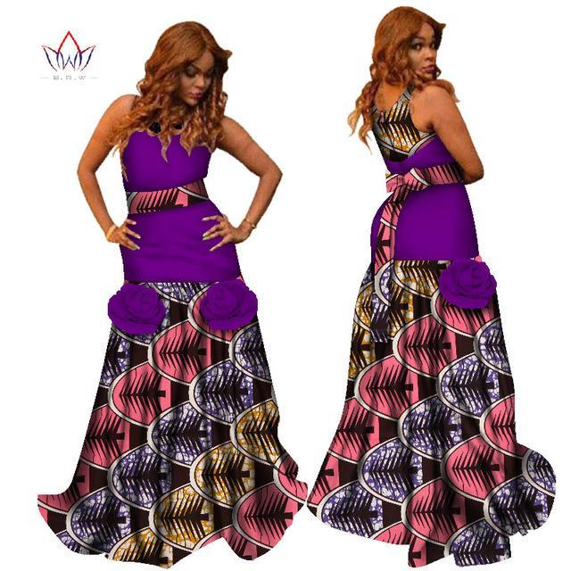 2017 Summer Dresses African Fabric Print Dresses O-Neck Sleeveless Ball Gown Maxi Women Dress Plus Size Clothing 6XL WY2387