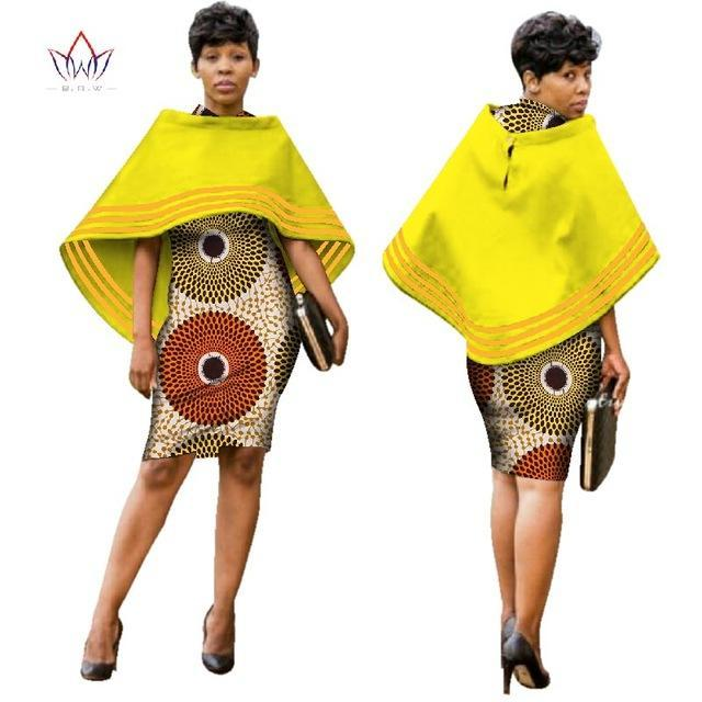 2017 Autumn women african clothing bow Dress african women clothing casual traditional african dress natural 6xl none WY2583
