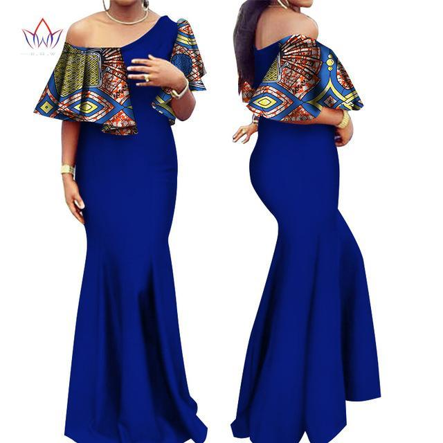 2017 Autumn Women traditional african dresses Brand Custom Clothing Africa Wax Dashiki long cotton Dress big size 6xl BRW WY2541