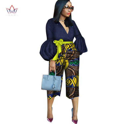 Latest African Women dashiki Pants Mid-Waist Zipper Pant, Ladies little big casual Pants Trousers