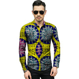 Tailor made african,Ankara colored african print mens dashiki shirts african clothes costom strong men long sleeve shirt of africa clothing
