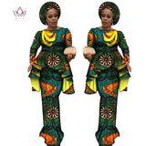 Trending African style dresses and skirts cotton Long Sleeve Tops and Long African Print Skirt Plus Size Dresses for Women Size M,L,XL,XXL,XXXL,4XL,5XL