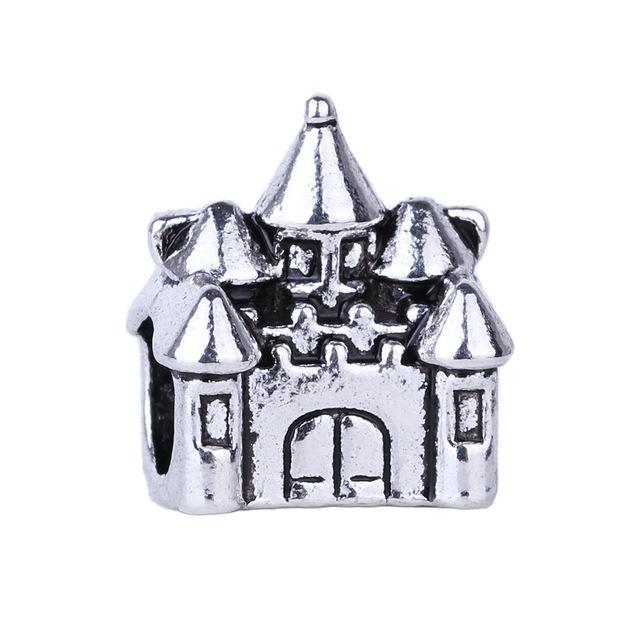 1pc Silver Bead Charm European Butterfly Angel Castle Bead Fit Pandora Bracelets & Necklace