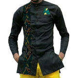 Tailor made african print mens dashiki shirts custom african clothes fashion shirt men long sleeve turndown collar shirt of africa clothing