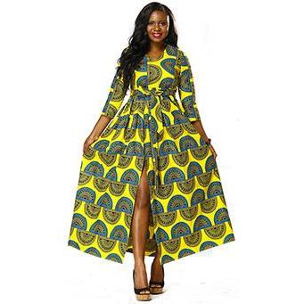 2017 african dresses for women Dashiki print maxi dress traditional clothing