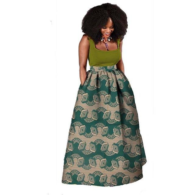 African women fashion sleeveless maxi dress  traditional Ankara clothing