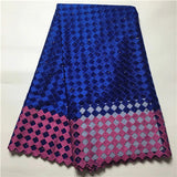 High Quality 5 Yards Royal Blue Nigerian Laces Fabrics,Tulle African Laces Fabric ,African French Net Lace