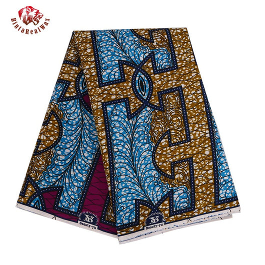 6 Yards High Quality Ankara African Polyester Wax Prints Fabric Super Hollandais Wax High Quality 6 yard African Fabric for Party Dress PL581