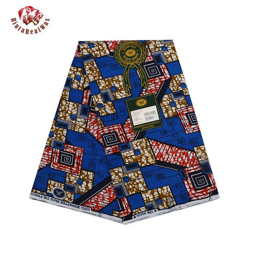 100%  Polyester Wax Prints Fabric, Ankara Super Hollandais Wax High Quality 6 yards  African Fabric for Party Dress 009